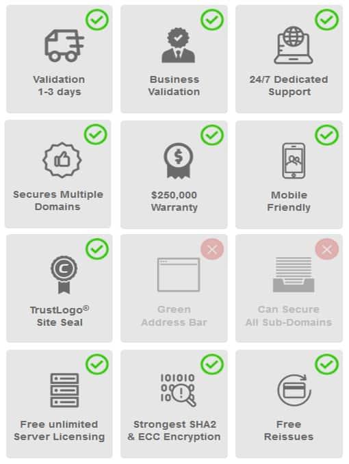 Fitur Comodo Multi Domain SSL