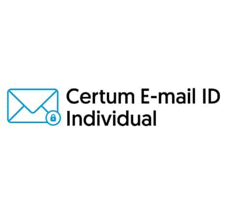 Certum E-mail ID Individual
